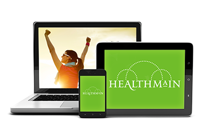 HealthMain on laptop
