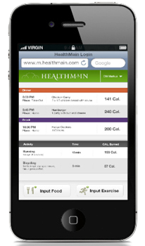 Healthmain Mobile Sample Dashboard